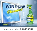 advertising means for cleaning... | Shutterstock .eps vector #754885834