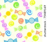 retro colorful seamless candy... | Shutterstock .eps vector #75489169