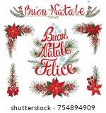 christmas buon natale italian... | Shutterstock .eps vector #754894909