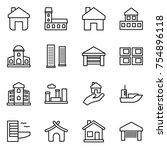 thin line icon set   home ... | Shutterstock .eps vector #754896118
