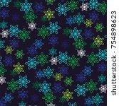 happy holidays typography... | Shutterstock .eps vector #754898623