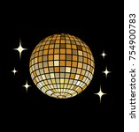 disco ball vector icon disco... | Shutterstock .eps vector #754900783