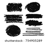 brush strokes text boxes.... | Shutterstock .eps vector #754905289