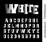 alphabet font template. set of... | Shutterstock .eps vector #754906264