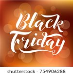 hand drawn black friday... | Shutterstock .eps vector #754906288