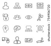 thin line icon set   man ... | Shutterstock .eps vector #754906720
