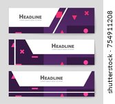 abstract vector layout... | Shutterstock .eps vector #754911208