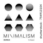 super minimal art bundle of... | Shutterstock .eps vector #754913104