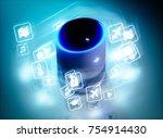concept of home intelligent... | Shutterstock . vector #754914430