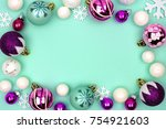 Modern pastel christmas bauble...