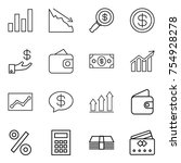 thin line icon set   graph ...   Shutterstock .eps vector #754928278