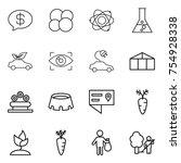 thin line icon set   money... | Shutterstock .eps vector #754928338