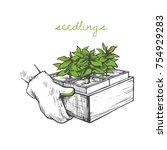 vector illustration of hands... | Shutterstock .eps vector #754929283