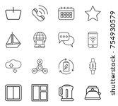 thin line icon set   basket ...