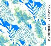 watercolor seamless pattern...   Shutterstock . vector #754934470