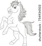 vector illustration  funny baby ...   Shutterstock .eps vector #754934503