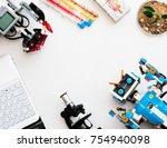 november  2017. minsk  belarus. ... | Shutterstock . vector #754940098