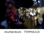 artificial jewellery gold ... | Shutterstock . vector #754946113