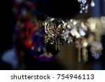 artificial jewellery gold ... | Shutterstock . vector #754946113