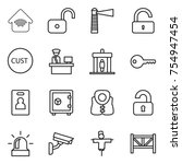 thin line icon set   wireless... | Shutterstock .eps vector #754947454