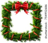 christmas square wreath with... | Shutterstock .eps vector #754952686