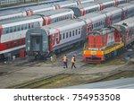 moscow  russia  oct 26  2017 ... | Shutterstock . vector #754953508