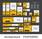 vector web banners templates.... | Shutterstock .eps vector #754954000