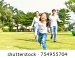 concept family relaxation.... | Shutterstock . vector #754955704