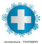 cross christmas icon | Shutterstock .eps vector #754958893