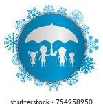dolls family protected...   Shutterstock .eps vector #754958950