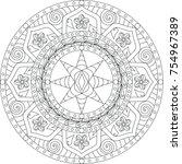 mandala etoiles et roses   Shutterstock .eps vector #754967389
