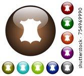 genuine leather symbol white... | Shutterstock .eps vector #754969990