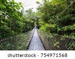 hanging bridge   monteverde... | Shutterstock . vector #754971568