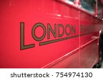 London Transport Old Red Bus