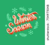 christmas season   winter... | Shutterstock .eps vector #754975048