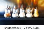 glass salt and pepper shakers... | Shutterstock . vector #754976608