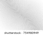 abstract halftone wave dotted... | Shutterstock .eps vector #754980949