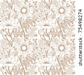Floral Seamless Pattern. Two...