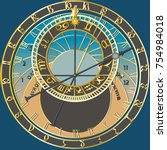 Astronomical Clock   Vector...