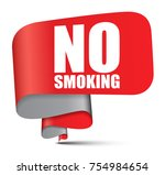 banner no smoking | Shutterstock .eps vector #754984654
