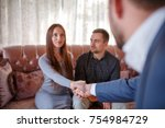 at the psychologist. young...   Shutterstock . vector #754984729