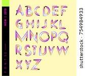 vector alphabet typography logo ... | Shutterstock .eps vector #754984933