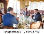 at the psychologist. young...   Shutterstock . vector #754985749