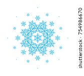 composition with snowflakes for ... | Shutterstock .eps vector #754986670