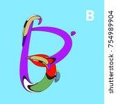 vector alphabet typography logo ... | Shutterstock .eps vector #754989904