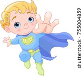 Illustration of very cute super baby boy