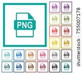 png file format flat color... | Shutterstock .eps vector #755007178