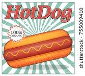 vintage pop art design card... | Shutterstock .eps vector #755009410