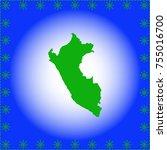 map of peru | Shutterstock .eps vector #755016700