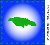 map of jamaica | Shutterstock .eps vector #755016718